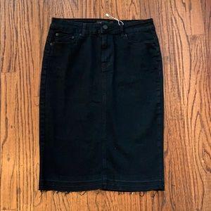 Dresses & Skirts - Black jean skirt